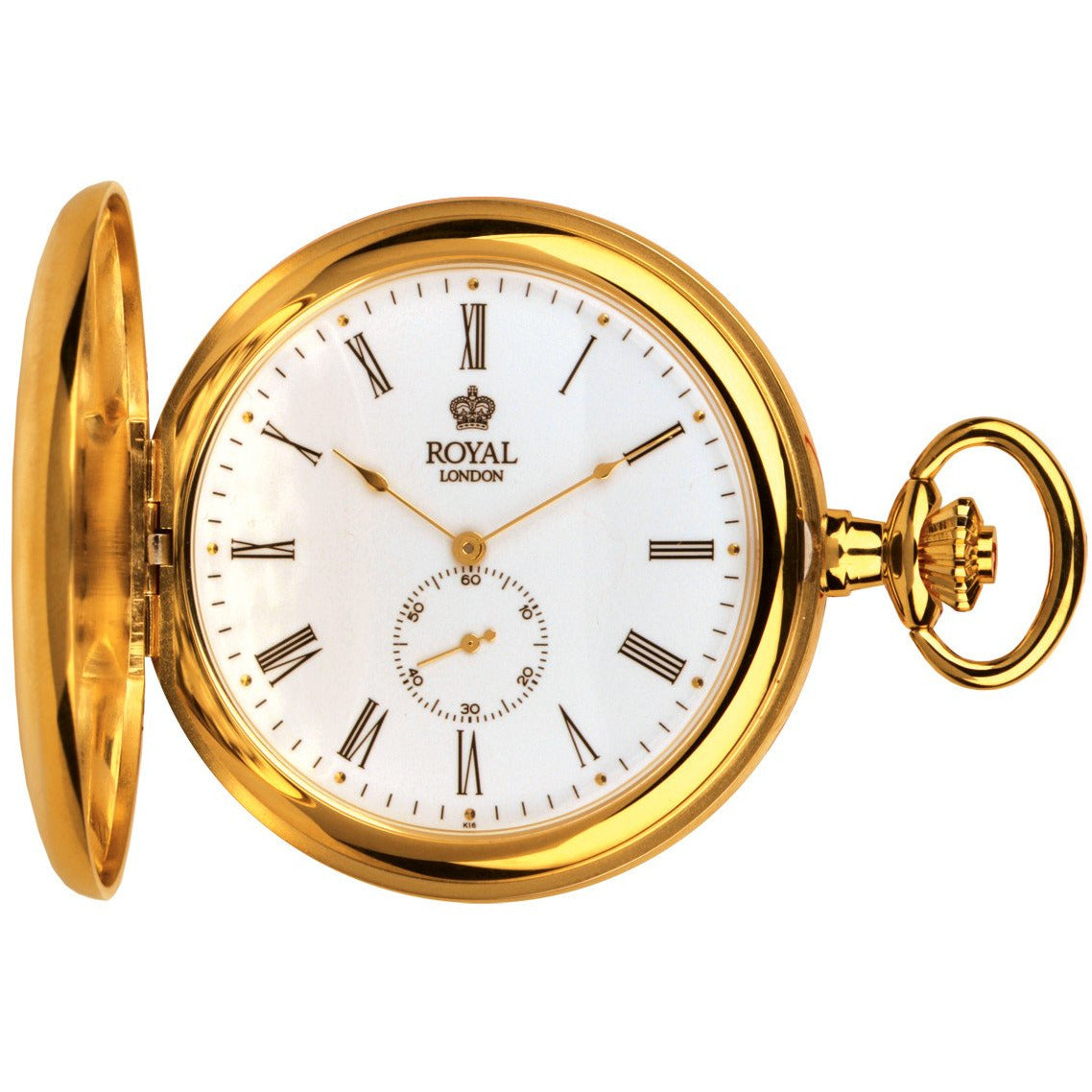Gold Quartz Pocket Watch by Royal London 90013-02