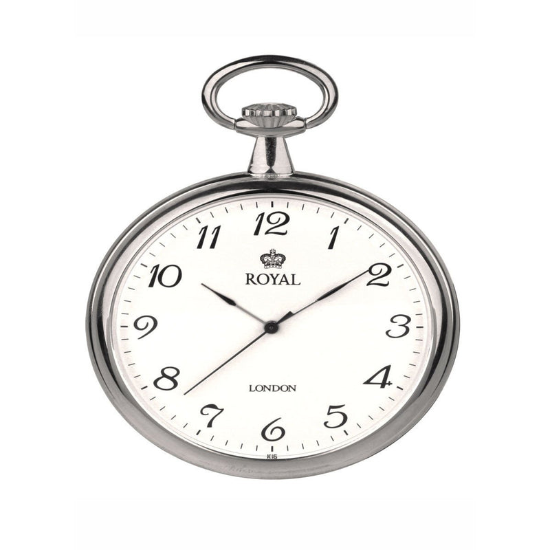 Unisex Silver Pocket Watch