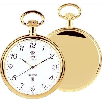 Gold Quartz Pocket Watch royal london  90015-02