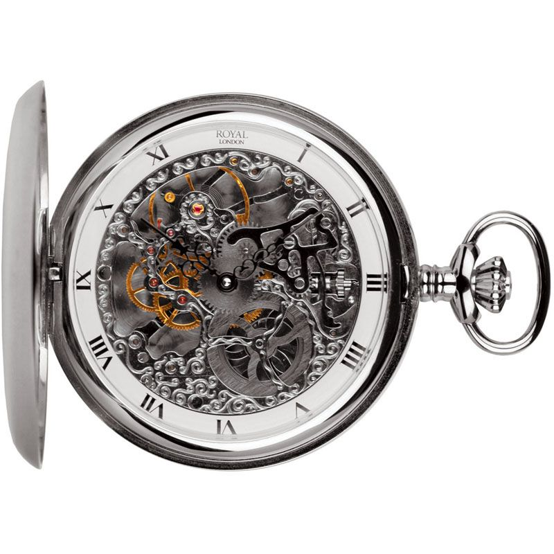 Unique Skeleton  Double Opening Pocket Watch