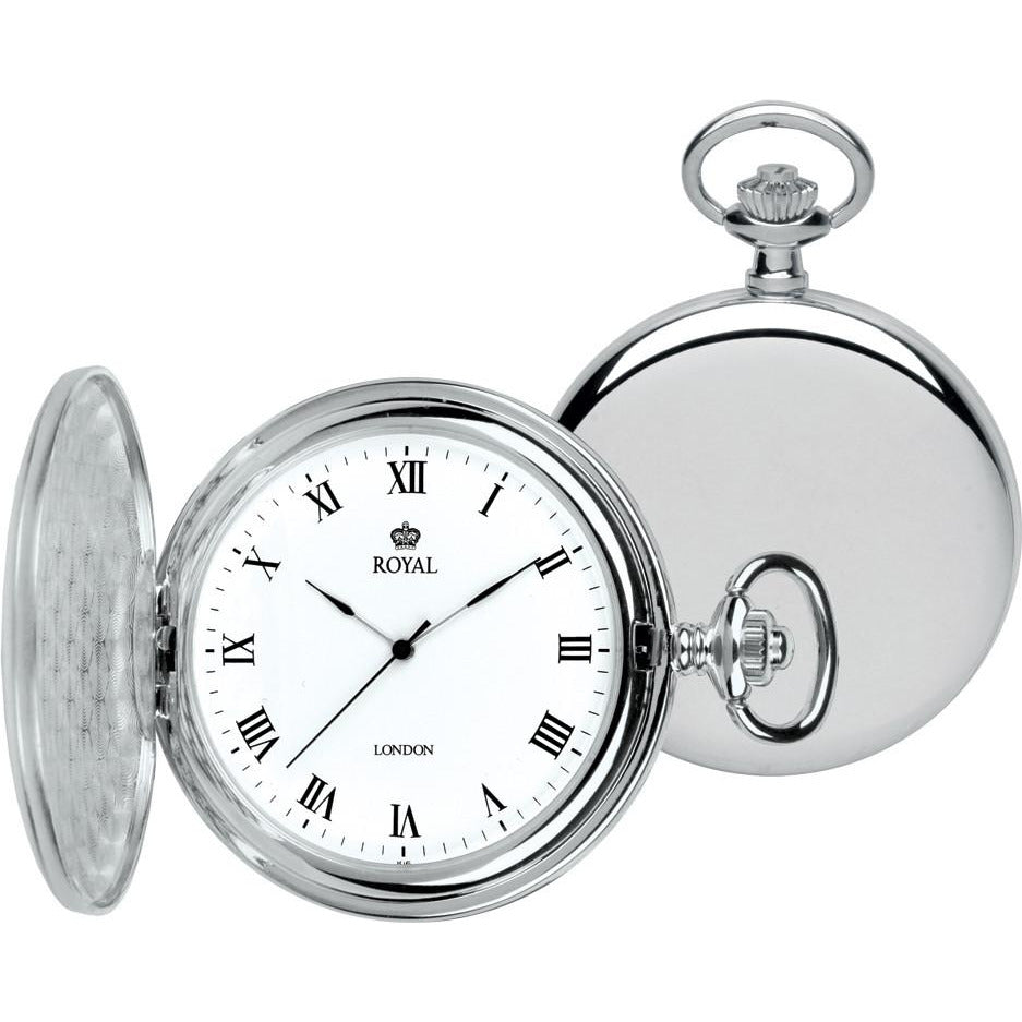 Silver Pocket Watch By Royal London 90021.01