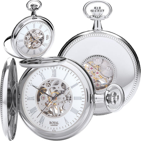 Silver Mechanical pocket Watch 90029.01