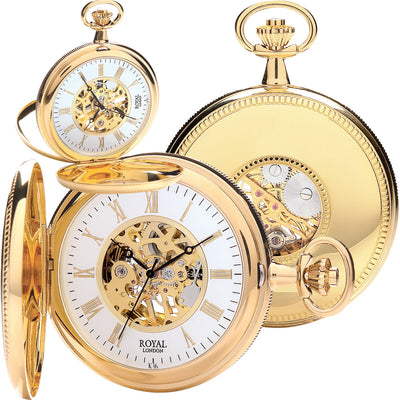 Gold  Mechanical Pocket Royal London Watch 90029.02