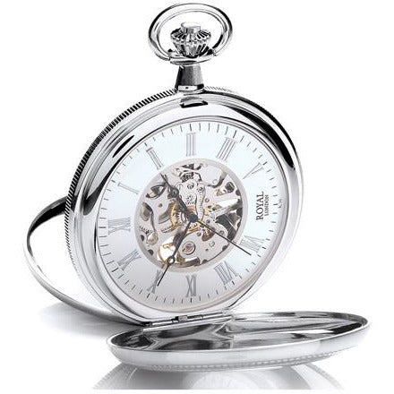 Silver Mechanical pocket Watch