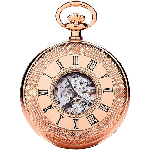 Royal London Rose Gold Pocket Watch 90047-03
