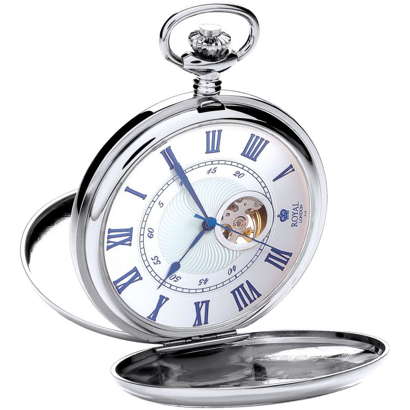 Mechanical silver pocket watch