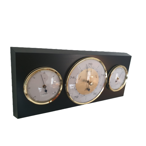Modern Black and Brass Weatherstation