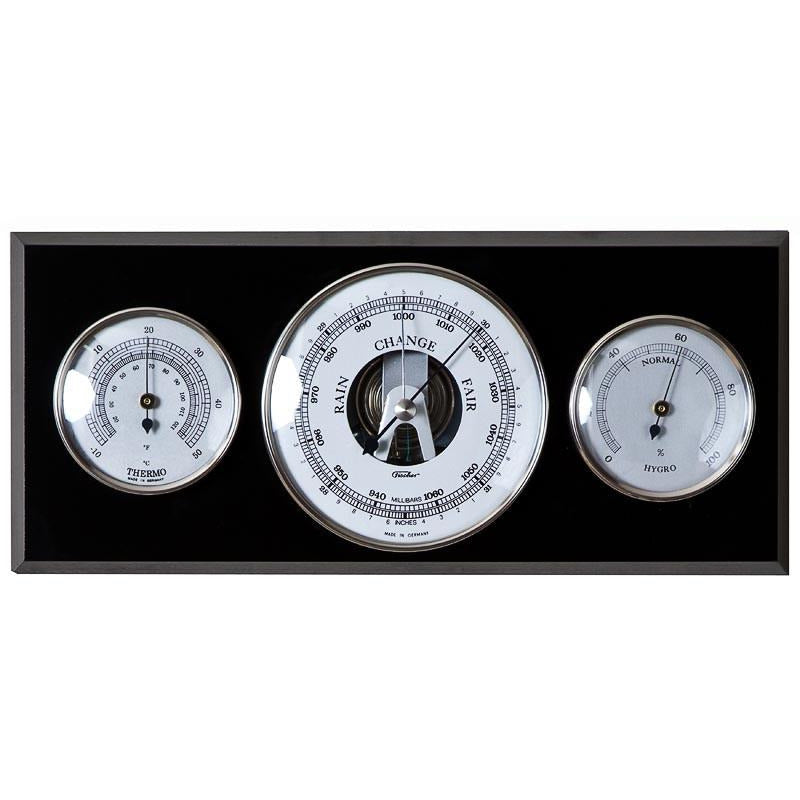 Black and Chrome Weatherstation 9103S-06