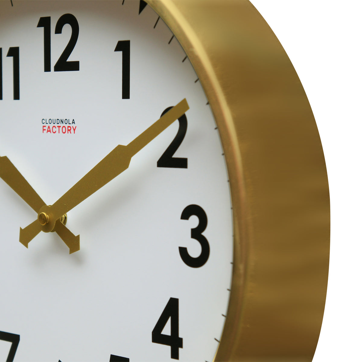 Factory Station Clock - Brushed Gold