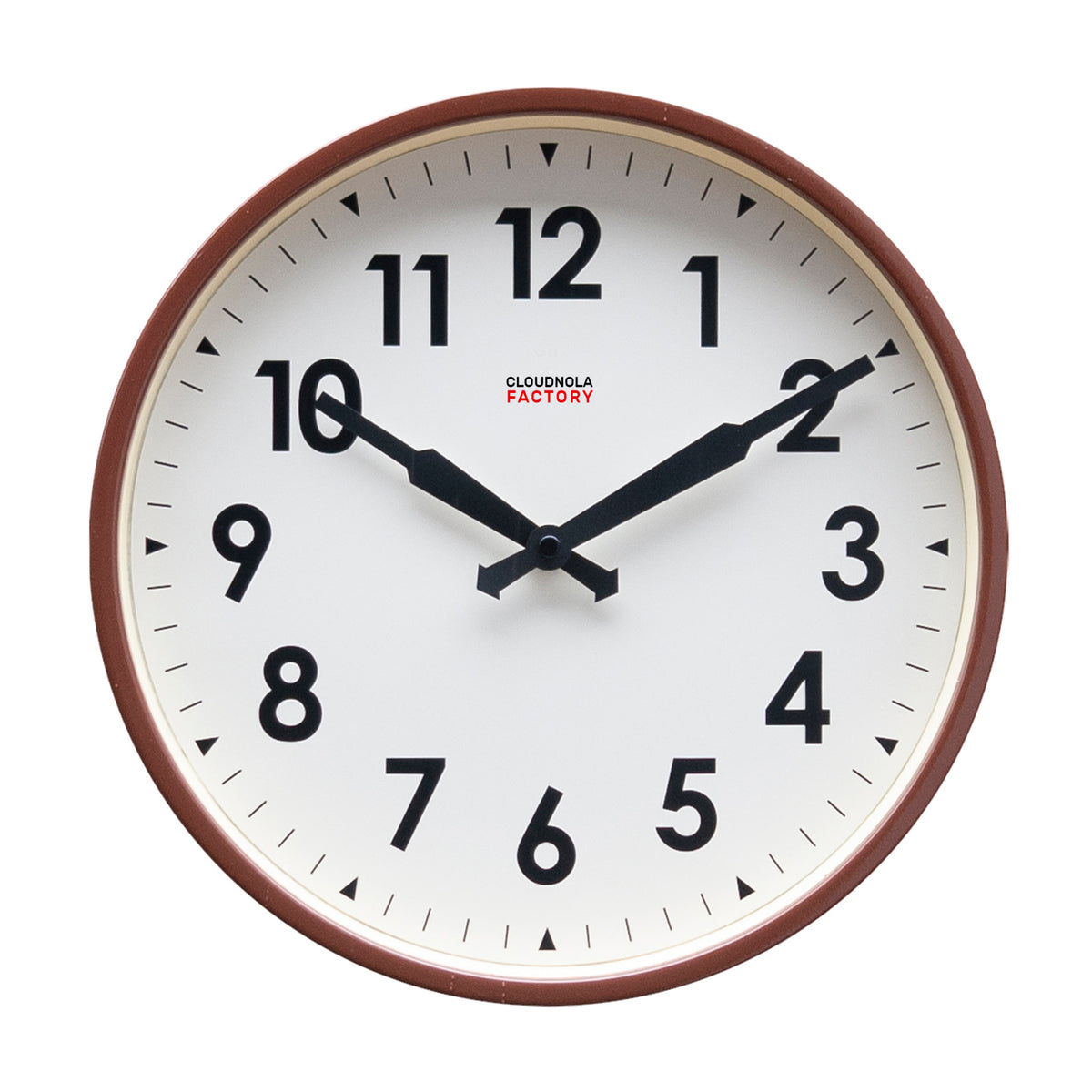 Factory Station Clock - Coffee Brown