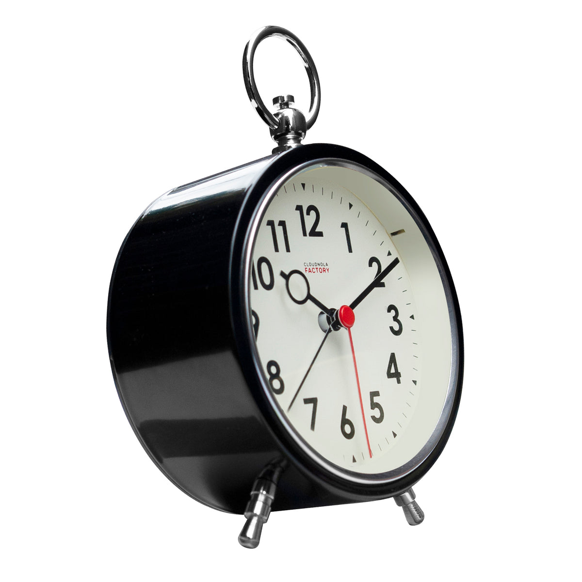 Factory Black Alarm Clock