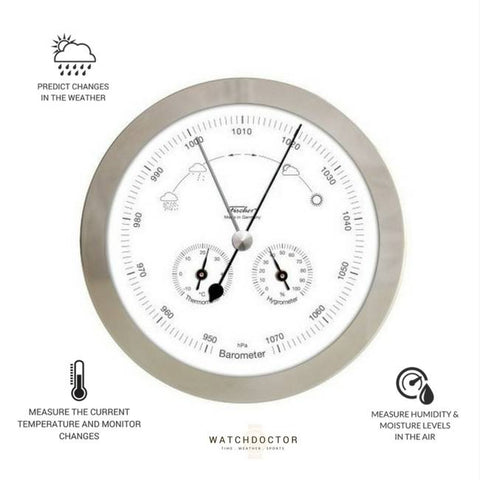 Modern Chrome Weather Station 1602-01