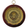Mahogany and Chrome Wall Mounted Barometer 1436R-22
