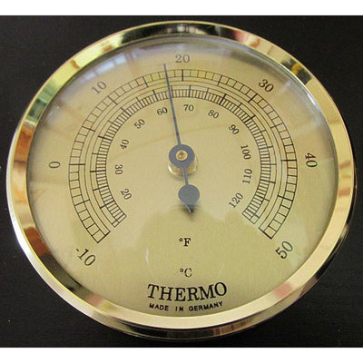 Modern Fischer Black and Brass Weatherstation 9103-06