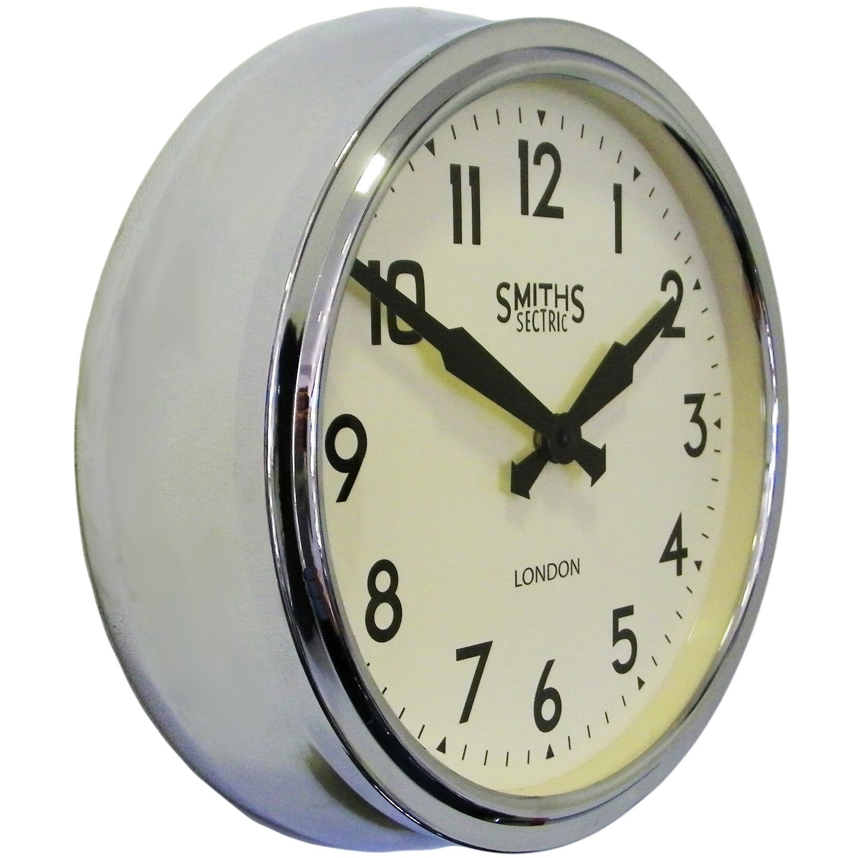Chrome Retro Wall Clock