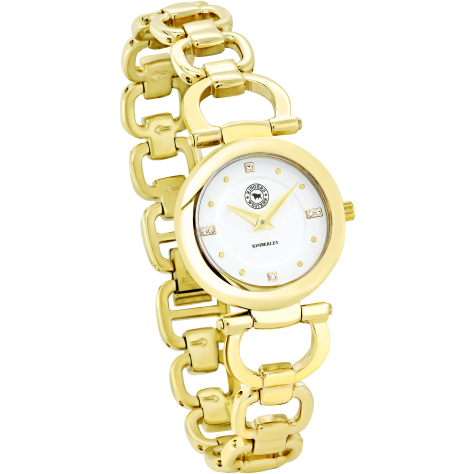 Kimberley Gold Plated Stainless Steel White Dial Bracelet Watch