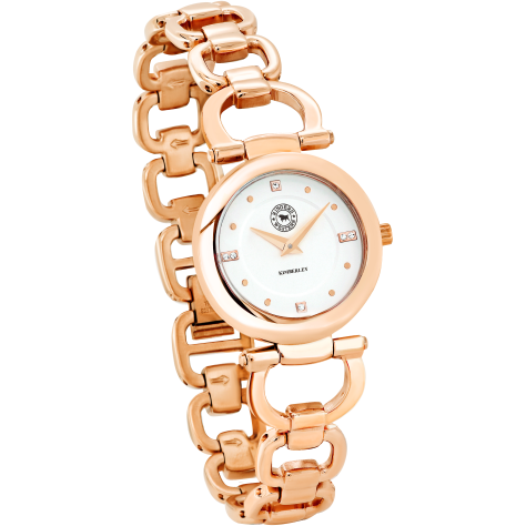 Kimberley Rose Gold Plated White Dial Bracelet Watch