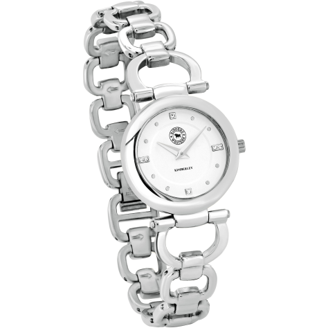 Kimberley Stainless Steel White Dial Bracelet Watch