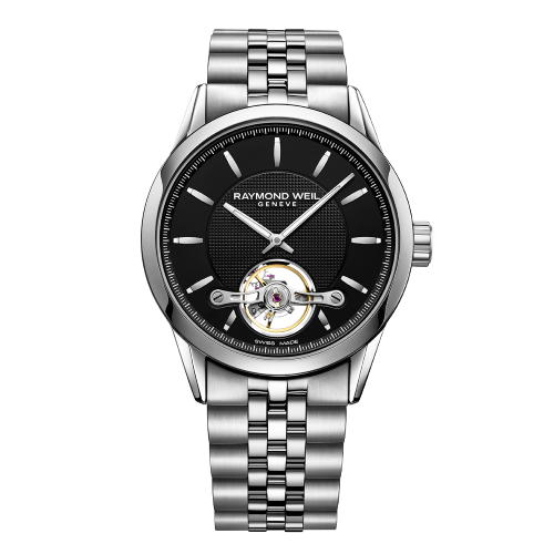 Raymond Weil - Freelancer - Men's Automatic Black Face Steel Strap Watch