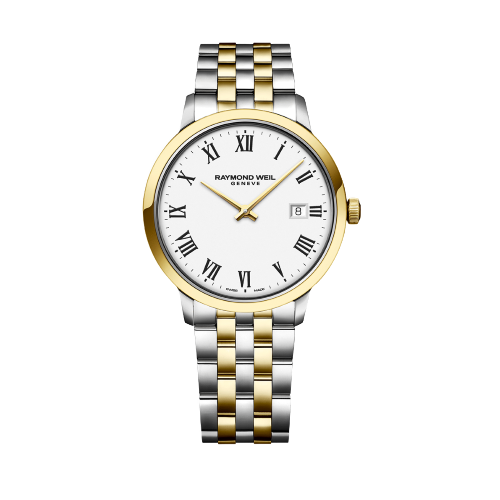Toccata Men's Classic Two-tone White Dial Quartz Watch