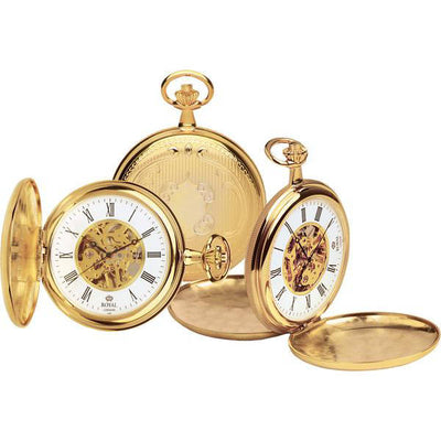 Quality  Mechanical Skeleton Pocket Watch