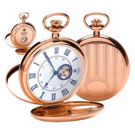Rose Gold Pocket Watch by Royal London 90051.03