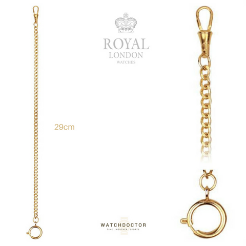 Royal London Mechanical Gold Pocket Watch 90004-01