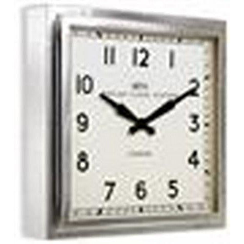 Chrome Retro Square Wall Clock