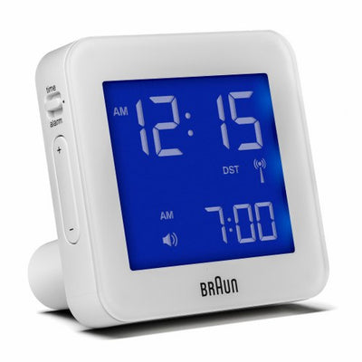 Braun LCD medium Alarm Clock White