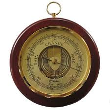 Mahogany and Brass Barometer