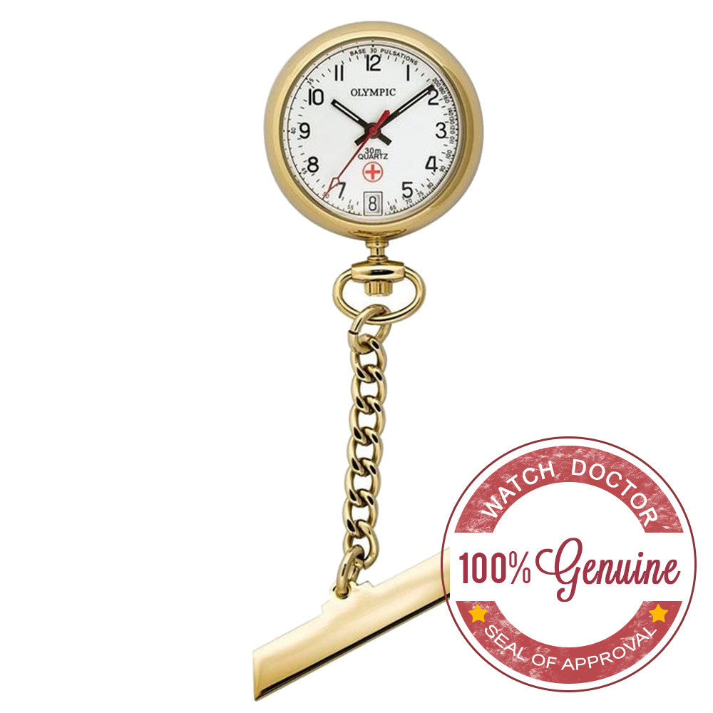 Nurses Medical Gold Watch Made By Olympic 83005