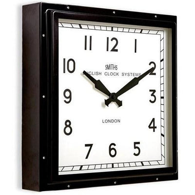 Black Retro Square Wall Clock