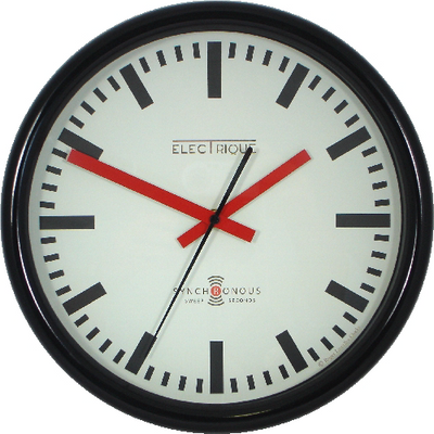 Swiss style station clock