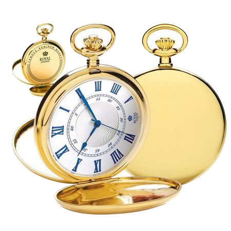 royal london unisex gold pocket watch 90050-02