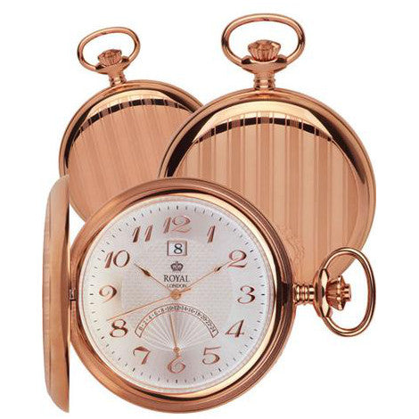 Rose Gold Pocket Watch by Royal London 90011.01