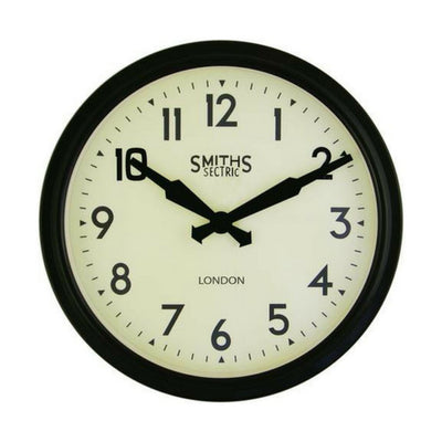 BLack Retro Wall Clock