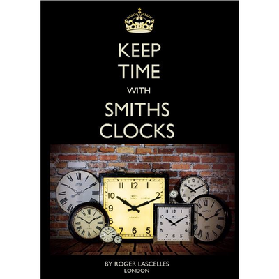 Smiths black Retro Wall Clock PL6044