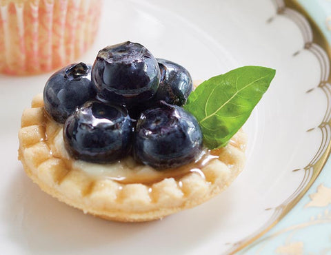 Tea Time Magazine - Blueberry Basil Tartlet