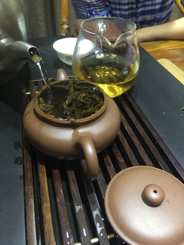 how to brew puer tea pu-erh tea tray meimei fine teas