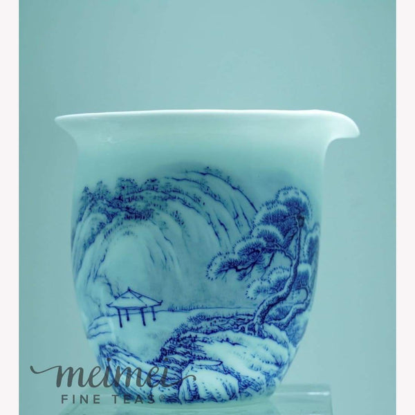 Treasure White Porcelain Fair Cup Pitcher - MeiMei Fine Teas