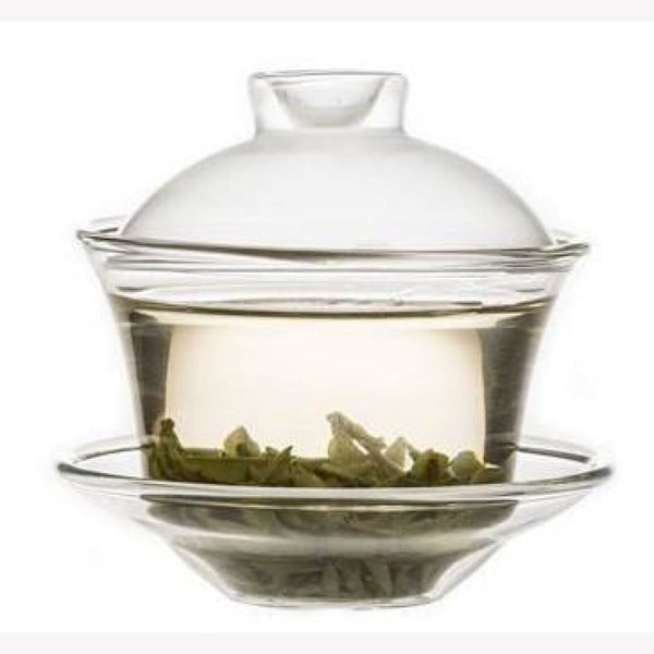 Borosilicate Glass Gongfu Gaiwan Hand-blown 150ml - MeiMei Fine Teas