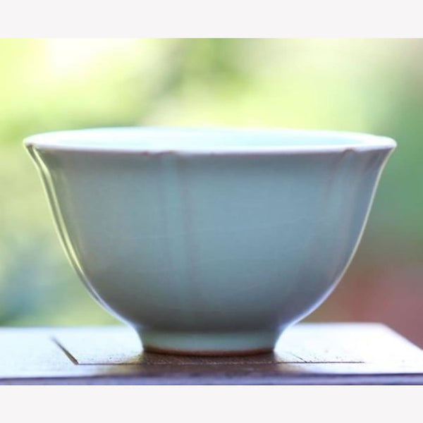 Celadon Gongfu Tea Cup Crackle Glaze 75ml - MeiMei Fine Teas
