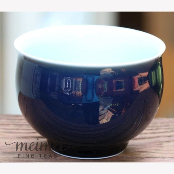 Contemporary Porcelain Tea Cup / Bowl Deep Blue Glaze 250 ml - MeiMei Fine Teas