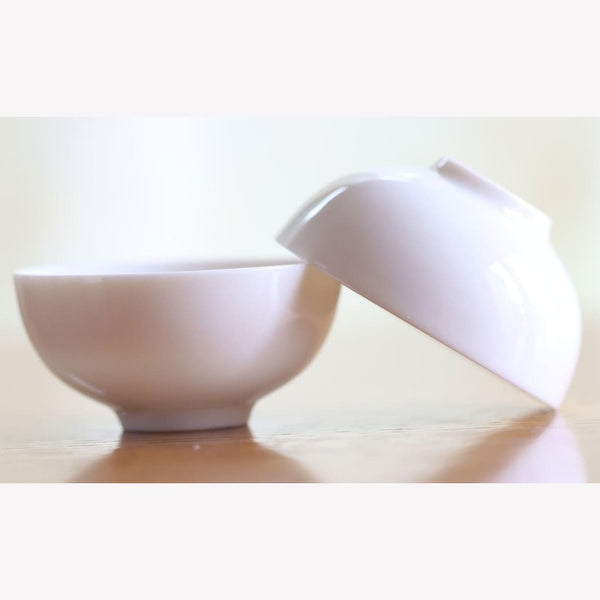 Cream White Porcelain Gongfu Tea Tasting Cup 60ml - Ware MeiMei Fine Teas