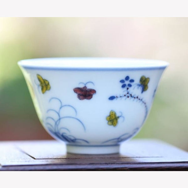 Porcelain Tea Cup Antique High Quality Replica Handcrafted 75ml - MeiMei Fine Teas