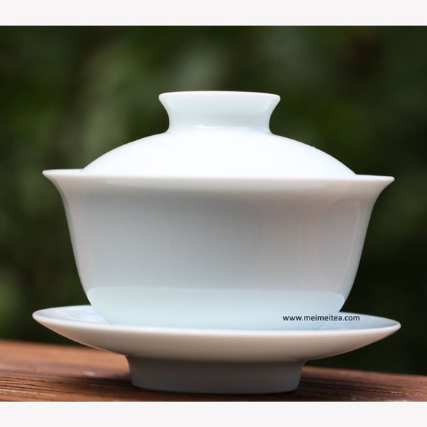 Treasure Yingqing White Porcelain Gaiwan Artisanal Buddhas Belly 225ml - MeiMei Fine Teas