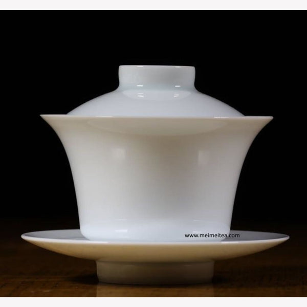 Treasure Yingqing White Porcelain Gaiwan Artisanal Tall Body 160ml - MeiMei Fine Teas