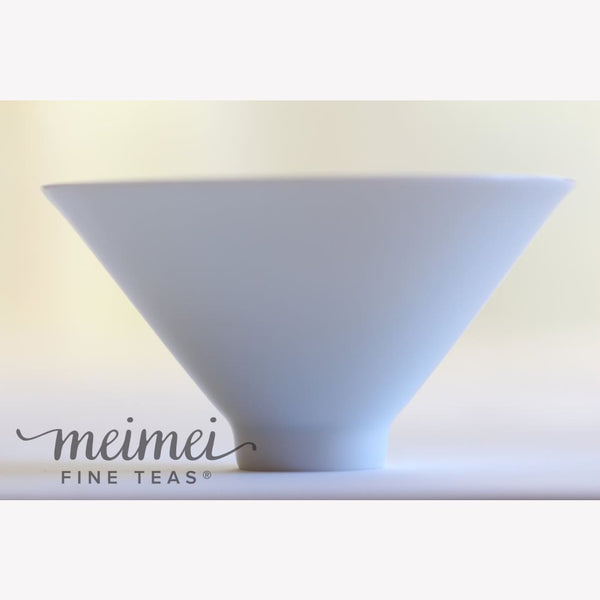 White Porcelain Tea Cup Ying Qing Bowl Hat 80ml - MeiMei Fine Teas