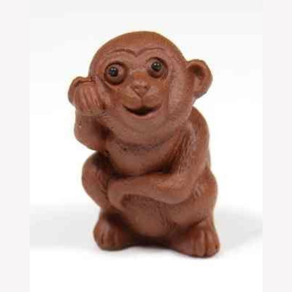 Zisha Tea Pet Happy Monkey Handcrafted - MeiMei Fine Teas