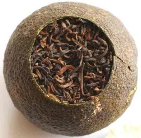 mandarin orange puerh tea stuffed tea blended tea